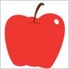 りんごのイラストレータ用eps ai パスデータ無料素材