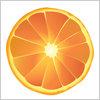 オレンジ みかんの切り身 イラレ/ベクトルデータ