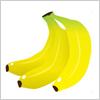 ふさ付きのバナナのイラスト