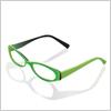 緑でおしゃれに!メガネ イラレ/ベクトルデータ