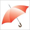 赤い傘のイラスト イラレ/ベクトルデータ【無料配布】