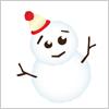 雪が積もったらつくりたいゆきだるま イラレ/ベクトルデータ【無料配布】