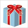 リボン付きプレゼントボックスのイラスト イラレ/ベクトルデータ【無料配布】
