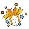 プレゼント ボックスにリボン  イラレ・ベクトルデータ【無料配布】