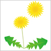 道端に咲くたんぽぽ イラレ/ベクトルデータ【無料配布】