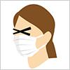 花粉症にはマスク イラレ・ベクトルデータ【無料配布】