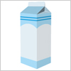 ミルク 牛乳パック イラレ・ベクトルデータ【無料配布】