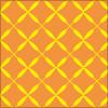 オレンジ色のクロス パターン イラレ・ベクトルデータ【無料配布】