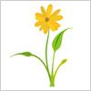 オレンジ色の春っぽい花 イラレ・ベクトルデータ【無料配布】