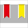 ちょっとした装飾にリボン5色 イラレ・ベクトルデータ【無料配布】