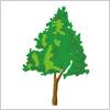緑、生い茂る木 イラレ/ベクトルデータ【無料配布】
