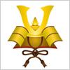 子供の日に飾りたい黄金に輝く兜の飾り イラレ/ベクトルデータ【無料配布】