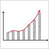 アクセスアップしてる風のグラフ イラレ・ベクトルデータ【無料配布】
