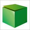 緑色の開きかけの箱 イラレ・ベクトルデータ【無料配布】