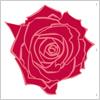 赤いバラ イラレ・ベクトルデータ【無料配布】