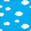 雲と青空のパターン イラレ・ベクトルデータ【無料配布】