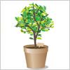 植木鉢 観葉植物 イラレ・ベクトルデータ【無料配布】