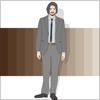 スーツを着た男性サラリーマン ビジネスマン イラレ・ベクトルデータ【無料配布】