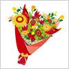 お祝いごとには欠かせない花束、ブーケイラスト