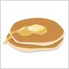 バターと蜂蜜をかけたホットケーキのイラスト