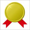 ワンポイントアイコン 金メダルのイラレデータ