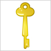 金色に輝くレトロな鍵のイラスト
