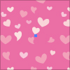 ピンクのハートを主体としたポップでかわいらしいイラレ用パターン