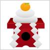 正月の飾り物 鏡餅のイラスト