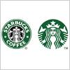 1992年からと2011年からのスターバックスコーヒーのロゴデータ