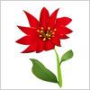 特にこれといって名もない赤い花のイラストです