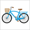 水色の自転車のイラスト