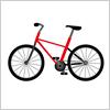 赤色のマウンテンバイク風のイラスト