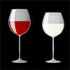 ワインが注がれたグラスのイラスト