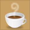 湯気が立つコーヒーのイラスト