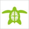 ハワイアンな亀のイラスト