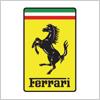 高級スポーツカー、フェラーリ(Ferrari)のロゴ