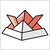 折り紙で作れる兜のepsイラスト無料素材
