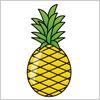 艶やかなフルーツ パイナップルのイラスト素材