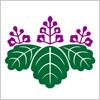 桐の紋章の和柄イラスト素材