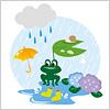 6月の梅雨時期のイメージイラスト