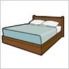 大きめサイズのベッドのイラスト