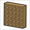 ブロックタイプの棚、3種のイラスト