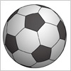 サッカーボールのイラスト