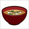 お味噌汁のイラスト