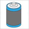 乾電池とボタン型電池のイラスト