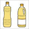 植物油の容器のイラスト2種類セット