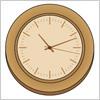 木製の時計イラスト