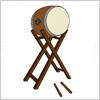 櫓付き、和太鼓のイラスト