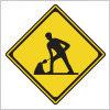 工事中を表す道路標識
