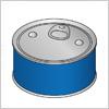 食品缶詰のイラスト素材